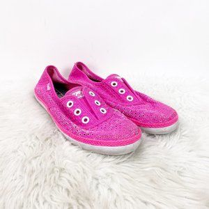 ☘️Keds Pink Perforated Canvas Slip-on Sneakers